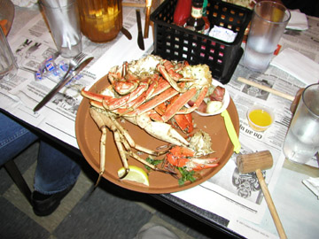 A plate of crab legs